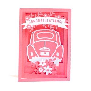 congratulations car accordion card