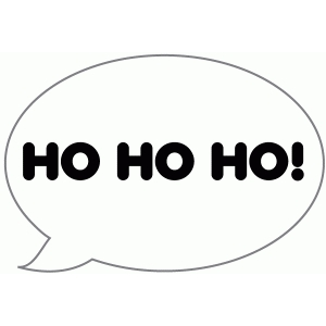 ho ho ho speech bubble