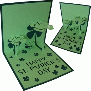 card pop up clovers