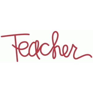 teacher - handwritten script