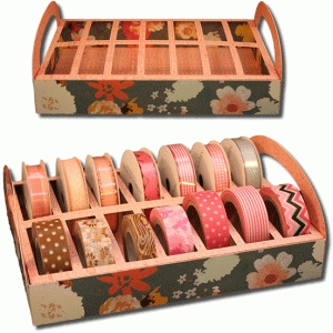 3d ribbon and washi tape storage tray