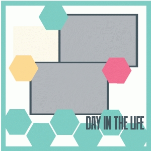 day in the life 12x12 scrapbook page kit