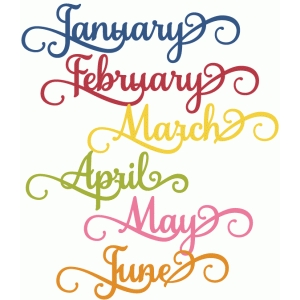 months of the year jan-june - perfect flourish