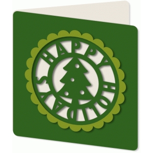 cut out tree holiday card