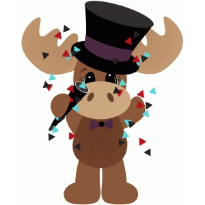 new years day moose w confetti