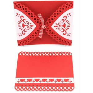 valentine gate fold card and insert set