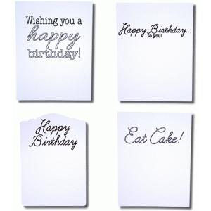birthday sentiments sketch with frames