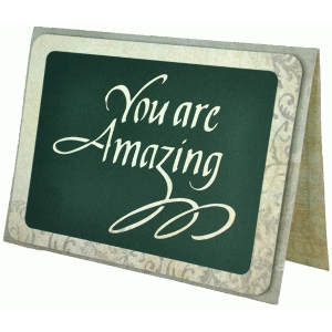you are amazing card - calligraphy