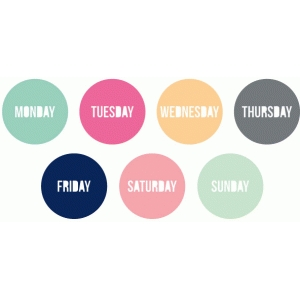 days of the week circles