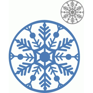 circle snowflake ornament