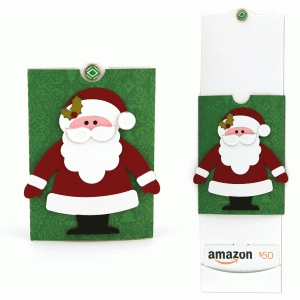 santa double sliding gift card holder
