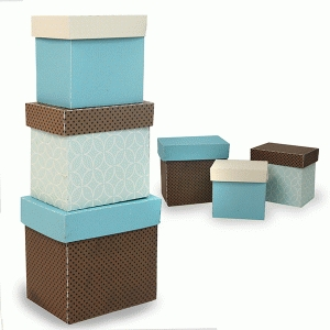 3 set of stacked rectangle boxes