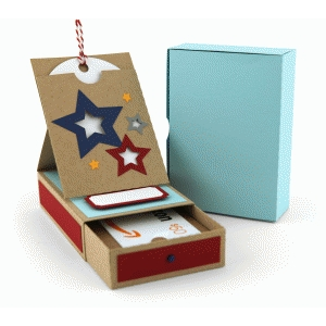 star gift card box with pocket easel card