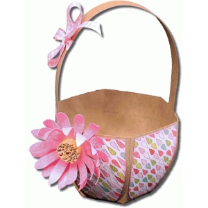 3d easter basket with flower