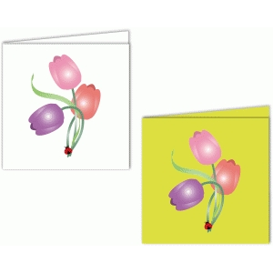 printable tulip card