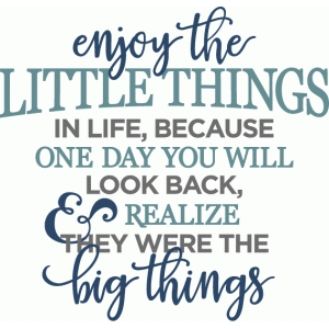 enjoy the little things phrase