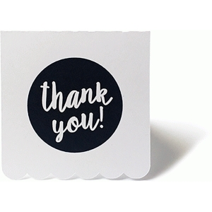 scalloped thank you card