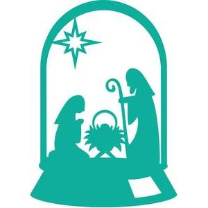 nativity scene cloche