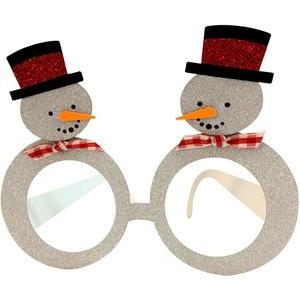 glasses snowman christmas