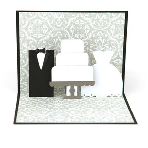 a2 wedding pop up card