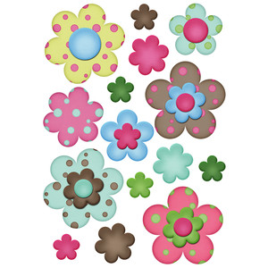 polka dot flower planner stickers