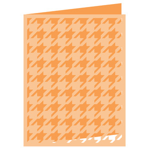small houndstooth card