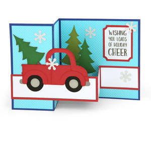 shadow box card christmas pickup