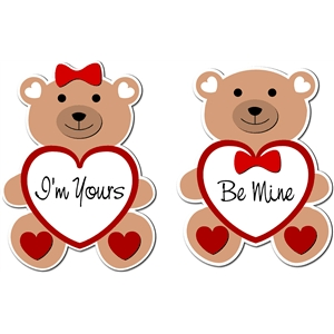 valentines love teddies