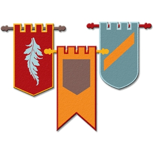 medieval banners set