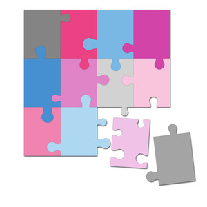 easy cut activity puzzle 6 in. x 6 in.