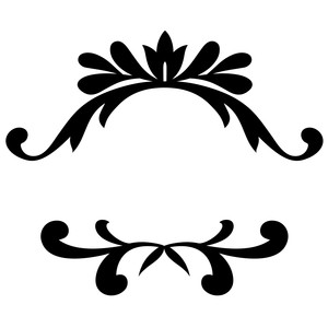 top & bottom flourish borders