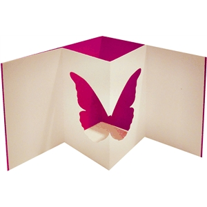 pop out butterfly aperture card