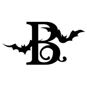 Halloween Monogram B