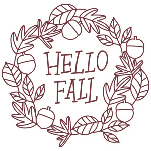hello fall leaf wreath