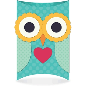 3d owl pillow box