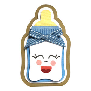 baby bottle card