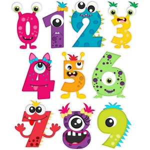 birthday monster number stickers