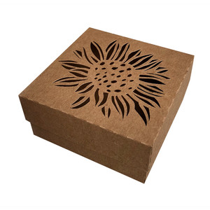 autumn box with sunflower
