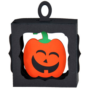jack-o-lantern hanging ornament box