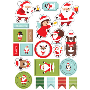 ml santa and animals stickers