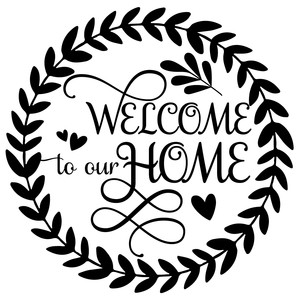 welcome to our home wreath