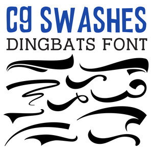 cg swashes dingbats