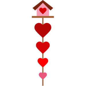 hearts bird house
