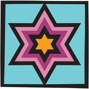 amish quilt square-star