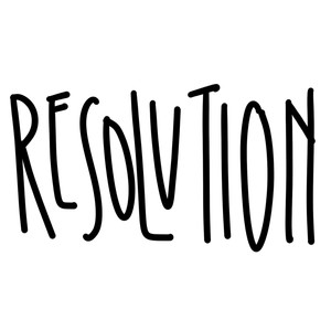 resolution word art