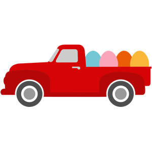 old pickup truck easter eggs