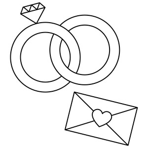 sketch wedding ring envelope