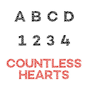 countless hearts font