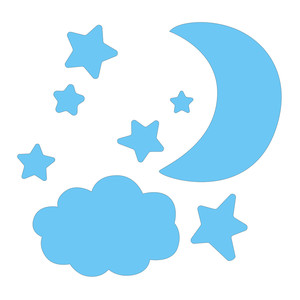 moon cloud and stars