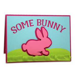 some bunny pop-up card